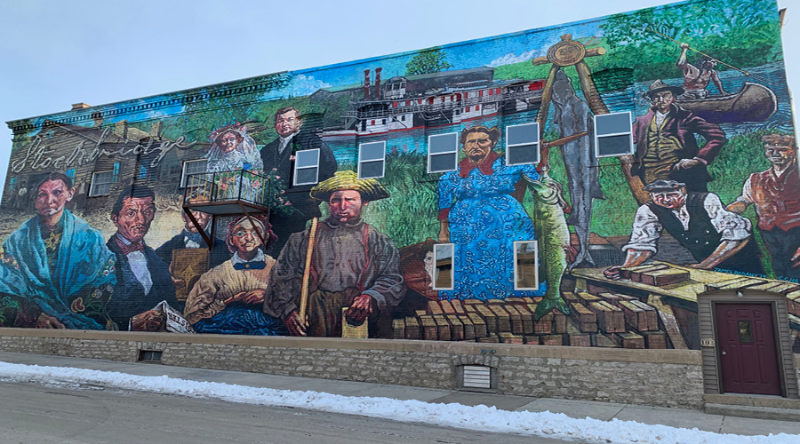 Stockbridge Mural portraying the history and culture of Stockbridge