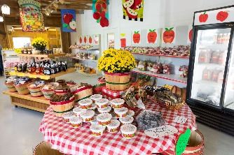 Inside of the store at Heritage Orchard