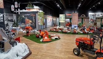 Lawn mowers inside the Ariens Museum